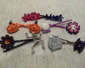 10 MIDNIGHT SPOOKY THINGS Hair Bobby Pins by Juste Jolie