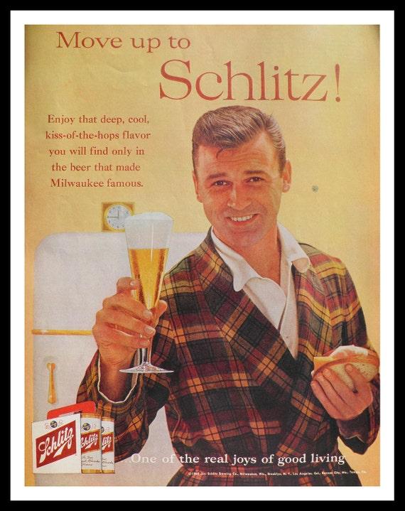 Vintage Schlitz Beer Ad 1960 Post Magazine 13 By