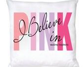 Audrey Hepburn Lovely Pillow - I Believe in PINK