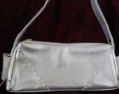 Silver Small Purse embellished with Swarovski Crystals
