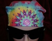 Tie Dyed (Psychedelic) Bandana with Genuine Swarovski Crystals