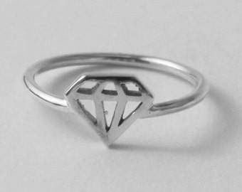Diamond Ring - Fun, affordable 925 sterling silver 'Diamond' ring