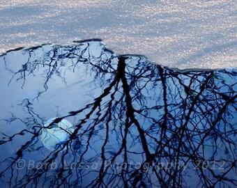 Moon reflection photography, fine art photography, wall art, barb lassa, photography print