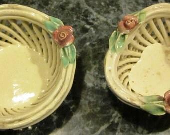 Set of Capodimonte Trinket Baskets