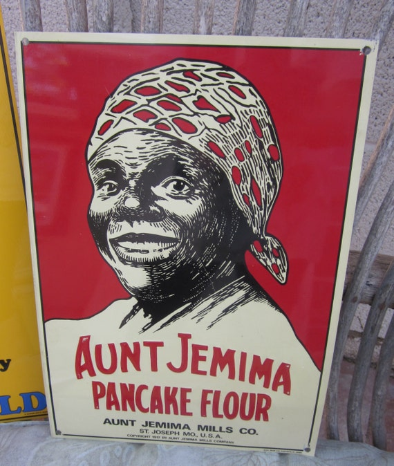 Aunt Jemima Tin Advertising Sign