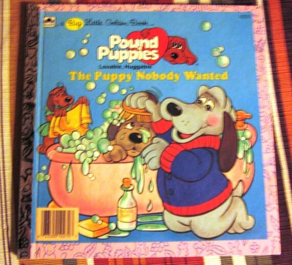 1986 Tonka Pound Puppies Golden Book