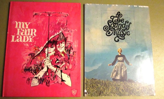 1960s Sound of Music and My Fair Lady Movie Books