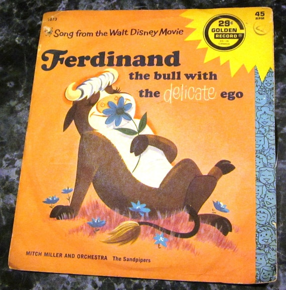 Walt Disney Ferdinand The Bull 45 Vinyl Record
