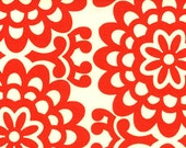 SALE Amy Butler Fabric - Lotus Collection - Wall Flower Cherry - 1 yd