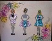 Original artwork decor great for girl's or children's room