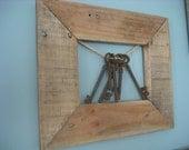 vintage frame with skeleton keys created by me