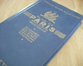 vintage french map book of Paris
