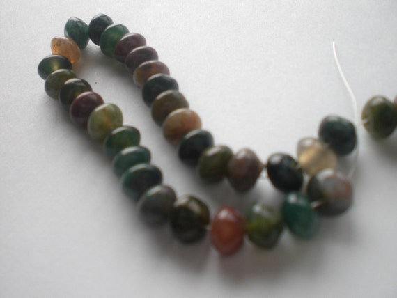 Multi-Colored Agate Rondelle Beads