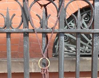 Meredith Leather Fringe Necklace