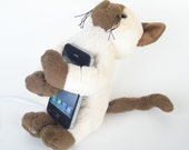 iPhone iPod Dock Charging Station repurposed cat plush animal