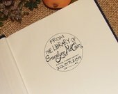 From the Library of Circle  - Personalized Wooden Stamp - Book Stamp -FREE SHIPPING