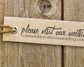 Please Vist - Personalized Stamp - wedding - business - website - FREE SHIPPING