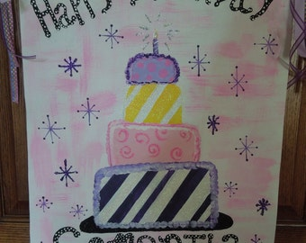 Personalized Birthday Canvas
