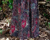 Floral paisley hippie boho skirt size 6