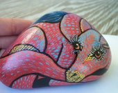 Baby dragon painted rock