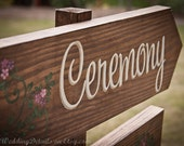 Rustic Wedding Signs - custom to say what you want (ceremony, reception, welcome, bar, gifts, thank you, etc)