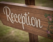 Rustic Wedding Signs - reception sign