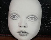 Sculpted Paper Clay Doll Face