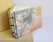 Color etching. Notebook goldfishs. Coptic binding. Etsy journal.