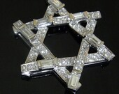 2.5ct Diamonds 14k White Yellow or Pink Gold Contemporary Necklace Pendant Star of David