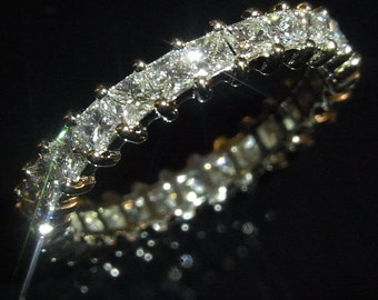 Platinum 2.3ct Diamonds Eternity Ring or Wedding / Anniversary Band Custom Made Layaway Available