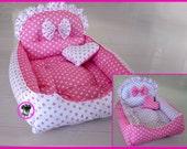 Code DB-31 Princess  Reversible Handmade Cotton Dog Cat Bed House Sofa  Sz 35x45CM Made to Order