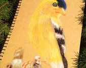 Spiral bound eco-friendly Goldfinch journal