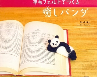 Felted Wool Healing Panda by Makiko Japanese Craft Book