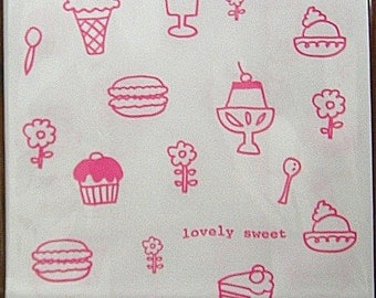 A Set of 12 Japanese Kraft Gift Bags - Lovely Sweet