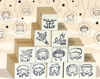 A Set of DIY Rubber Stamp -Friendship