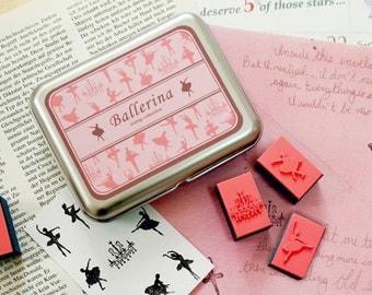 A Set of DIY Rubber Stamp -Ballerina
