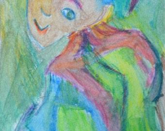 Original ACEO Watercolor Painting - Joker