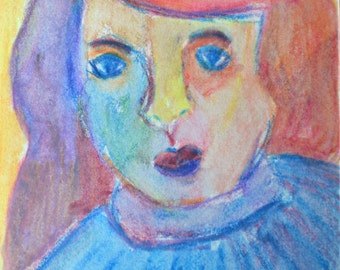 Original ACEO- A Woman