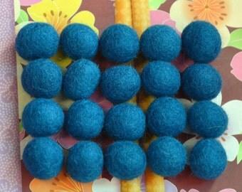 20pcs Legion Blue Felt Balls (1cm or 1.5cm)