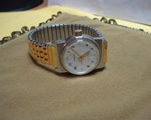 """GDR (Germany) """"RUHLA""""  wrist watch  white dial rare 1950-1960 VERY good condition"""