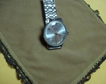 """Ussr """"Raketa"""" wrist watch 1960-70  metal dial rare 16 jewels"""