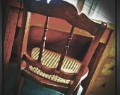 19th Century American Cane Seat Chair