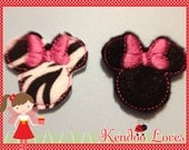 Two Minnie inspired bow centers or clippies