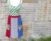 Reserved -Eco-Friendly, Upcycled Skirt / Top / Size Large. READY TO SHIP.