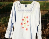 Hand Embroidered Misses Tunic in XL