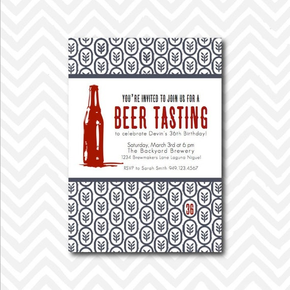 Items similar to Printable Beer Tasting Party Invitation on Etsy – Beer Tasting Party Invitations