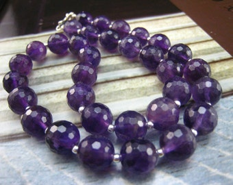 connect to nature,purple necklace,amethyst