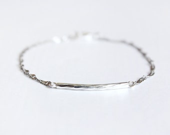 bar-ely there bracelet - minimal jewelry / gift for her