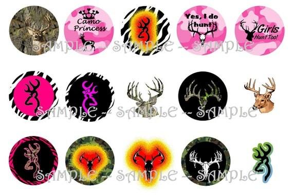 Deer Hunting Digital Bottle Cap Images - 4x6 Bottlecap Digital (115)