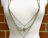 Decorative Nipple Chains with Pearlescent Beads